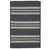 Sunbrella Southport Stripe UH49 Granite Braided Rug by Colonial Mills