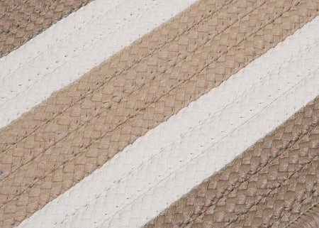 Portico PO99 Sand Braided Striped Outdoor Rug by Colonial Mills - Select Area Rugs