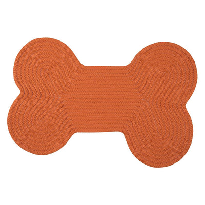 Dog Bone Solid H073 Orange Braided Rug by Colonial Mills