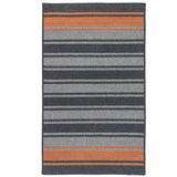 Frazada Stripe FZ29 Charcoal /Orange Braided Wool Rug by Colonial Mills