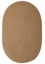 Coffee Oval Braided Rug | Indoor/Outdoor Rug Made in USA