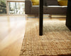Natural Jute Rug | Handmade Golden Fiber Rug With Chunky Texture