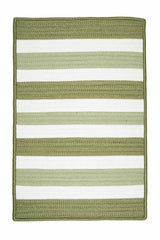 Portico PO69 Edamame Green Braided Striped Outdoor Rug by Colonial Mills