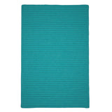 Simply Home Solid H920 Teal Braided Ultra Durable Rug by Colonial Mills