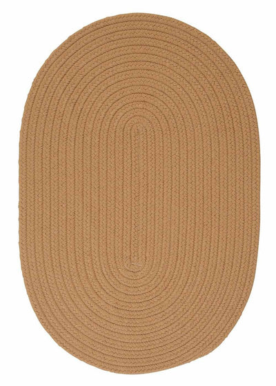 Lite Brown Oval Braided Rug Made in USA
