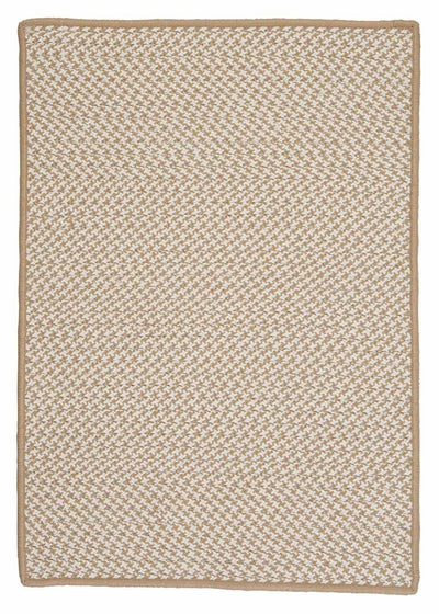 Outdoor Houndstooth Tweed OT89 Cuban Sand Braided Rug by Colonial Mills