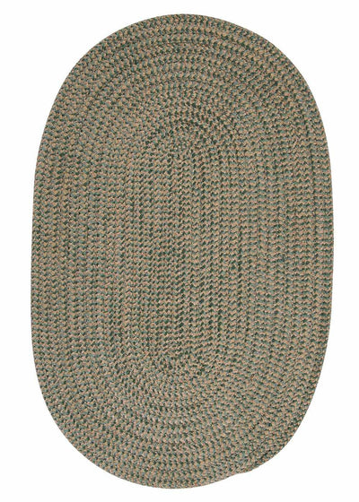 Softex Check CX16 Myrtle Green Check Braided Rug by Colonial Mills