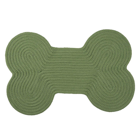 Dog Bone Solid H123 Moss Green Braided Rug by Colonial Mills - Select Area Rugs