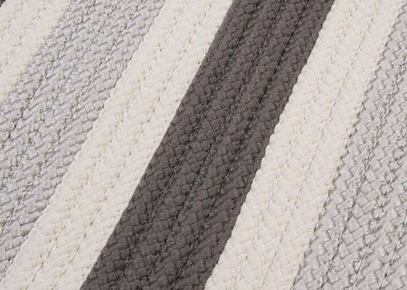 Stripe It TR09 Silver Indoor/Outdoor Rug by Colonial Mills - Rug
