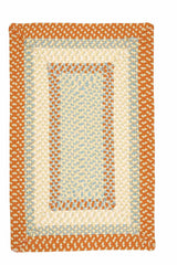 Montego MG29 Bright Orange Braided Rug by Colonial Mills