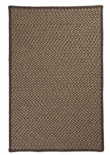 Natural Wool Houndstooth HD34 Caramel Braided Wool Rug by Colonial Mills
