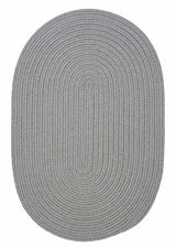 Gray Oval Braided Rug | Indoor/Outdoor Rug Made in USA