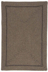 Shear Natural EN34 Latte Modern Braided Wool Rug by Colonial Mills