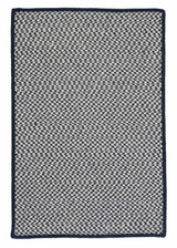 Outdoor Houndstooth Tweed OT59 Navy Braided Rug by Colonial Mills