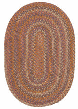 Rustica RU70 Audubon Russet Braided Wool Rug by Colonial Mills