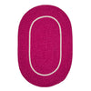 Silhouette SL78 Magenta Braided Rug by Colonial Mills