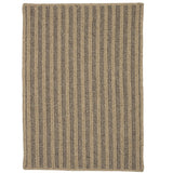 Woodland Round RD-OL83 Dark Natural Braided Wool Rug by Colonial Mills