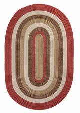 Brooklyn BN79 Terracotta Red Braided Rug by Colonial Mills