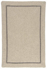 Shear Natural EN31 Cobblestone Modern Braided Wool Rug by Colonial Mills