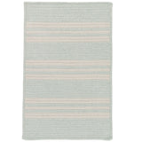 Sunbrella Southport Stripe UH69 Sea Braided Rug by Colonial Mills