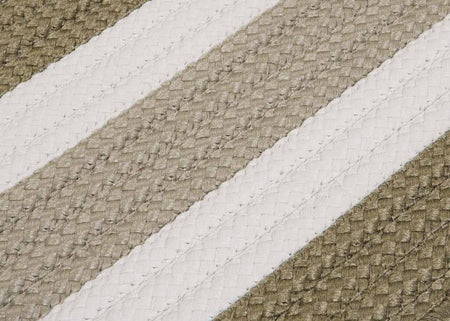 Portico PO69 Edamame Green Braided Striped Outdoor Rug by Colonial Mills - Select Area Rugs