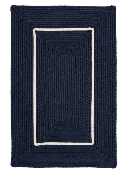 Doodle Edge FY52 Navy Braided Rug by Colonial Mills