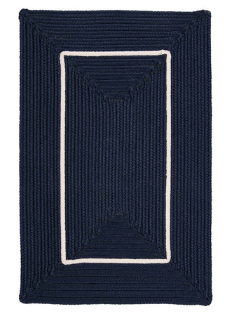 Doodle Edge FY52 Navy Braided Rug by Colonial Mills - Select Area Rugs