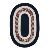 Flowers Bay FB50 Patriot Blue Braided Kids Rug by Colonial Mills