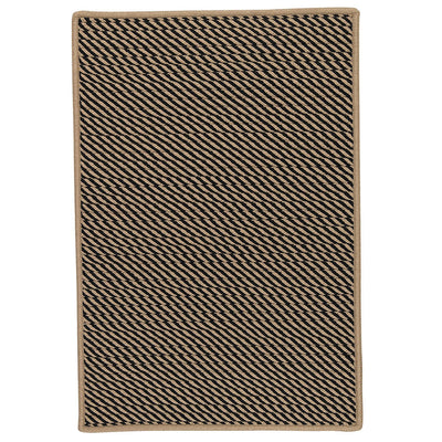 Point Prim IM13 Black Braided Rug by Colonial Mills