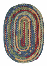Market Mix Oval MM03 Sea Glass Braided Rug by Colonial Mills