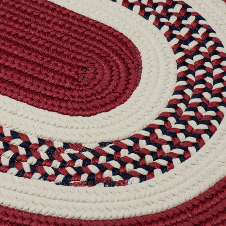 Flowers Bay FB70 Patriot Red Braided Kids Rug by Colonial Mills - Select Area Rugs