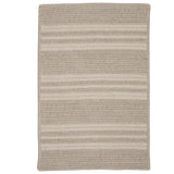 Sunbrella Southport Stripe UH29 Ash Braided Rug by Colonial Mills