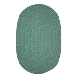 Softex Check CX35 Teal Check Braided Rug by Colonial Mills
