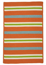 Painter Stripe PS21 Tangerine Braided Rug by Colonial Mills