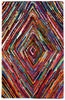 Colorful AMB1000 Tie-Dye Diamond Natural Fiber Rug