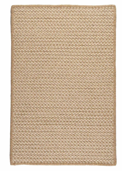 Natural Wool Houndstooth HD33 Tea Braided Wool Rug by Colonial Mills