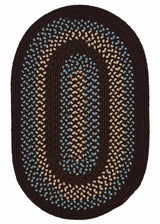 Georgetown GT40 Fudge Brown Braided Rug by Colonial Mills