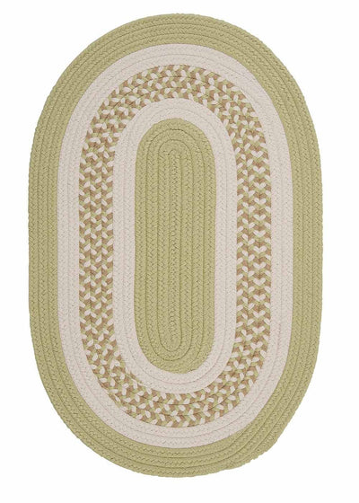Flowers Bay FB61 Light Green Braided Kids Rug by Colonial Mills