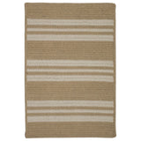 Sunbrella Southport Stripe UH99 Wheat Braided Rug by Colonial Mills