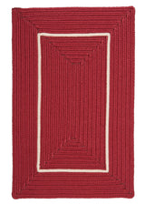 Doodle Edge FY72 Red Braided Rug by Colonial Mills