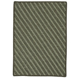 Blue Hill BI61 Moss Green Braided Wool Rug by Colonial Mills