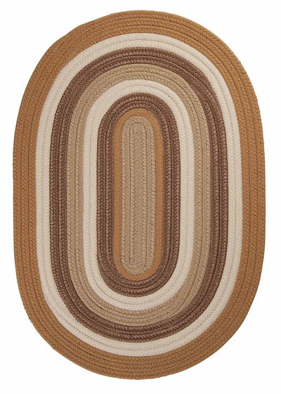 Brooklyn BN99 Amber Way Gold Braided Rug by Colonial Mills