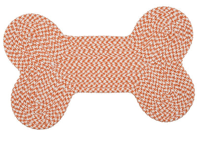 Dog Bone Hounds-tooth Bright OT19 Orange Braided Rug by Colonial Mills
