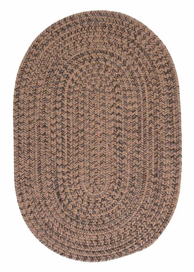 Hayward HY89 Mocha Braided Wool Rug by Colonial Mills