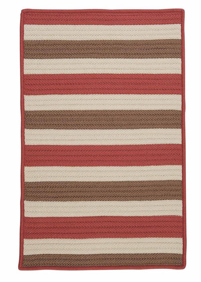 Stripe It TR99 Terracotta Indoor/Outdoor Rug by Colonial Mills