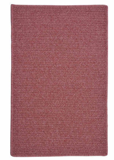 Courtyard CY55 Mauve Braided Wool Rug by Colonial Mills