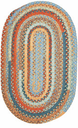 Olivera OV59 Vintage Blue Braided Rug by Colonial Mills