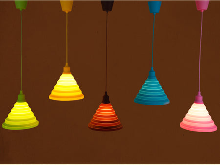 Silicone Pendant Ceiling Rose Light | Beautiful Selection of Candy Colors - Select Area Rugs