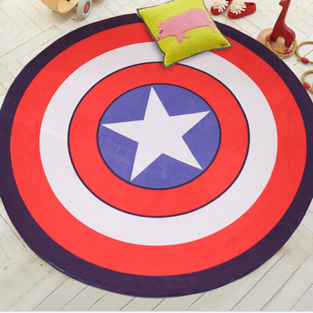Marvel's Captain America Shield Area Rug | Free Shipping & Satisfaction Guarantee - Select Area Rugs