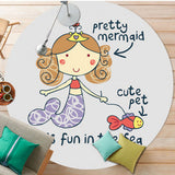 Pretty Mermaid Round Rug | Super-Cute Area Rug That Your Little One Will Adore
